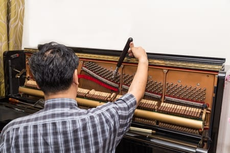 The Normal Cost of Tuning a Piano