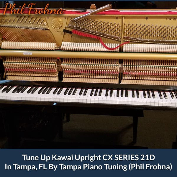 Tune Up Kawai Upright CX SERIES 21D In Tampa, FL By Tampa Piano Tuning (Phil Frohna)